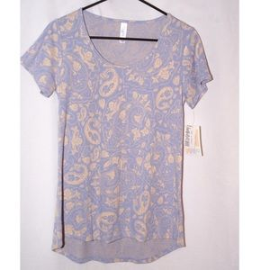 Lavender and cream paisley floral Classic-T